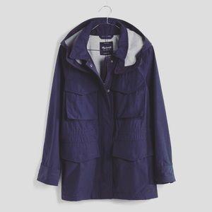Madewell XS Fieldwalk Hooded Jacket Navy Blue